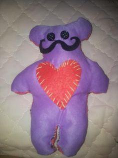 Handmade teddy bear. Little bit monster bear :D  Of recycled  old t- shirts.