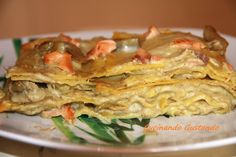 Lasagne con crema di carciofi e salmone affumicato