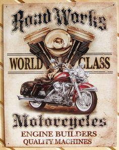 Large Busted Knuckle Garage Vintage Garage Metal Tin Advertising Sign 1738 New