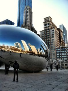 The mirror bean in Chicago! So fun!