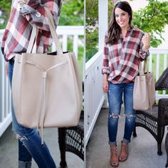This perfect Fall plaid and my favorite new shoes are on MrsCasual.com today ❤️…