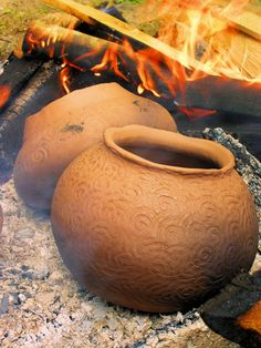 Cherokee pottery fired in the old way!