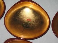 Gold Leafed Japanese Snack Dish
