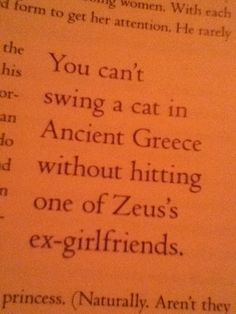 I read this part and I had to close the book because I was laughing so hard I was crying and I couldn't read the words.