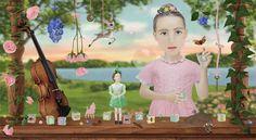 """Child's Play"" by Carolina Cleere. Mixed media on birch."