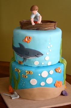 16th Birthday Cakes for Boys | birthday boy in is birthday dory is the perfect topper for this cake ...