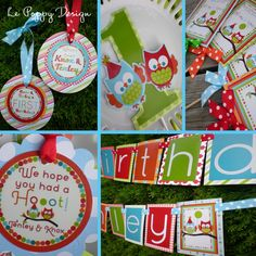 Owl Birthday Party Package Decorations - Have A Hoot. $147.00, via Etsy.