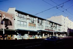 Pike Place Market, Sanitary Public Market from 1st Ave -- 1975