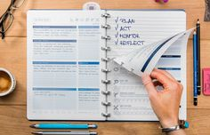 A notebook and a task manager designed to help you achieve your goals and work-life balance, using a four-step system: PLAN, ACT, MONITOR, REFLECT. http://kck.st/2qNRd9M