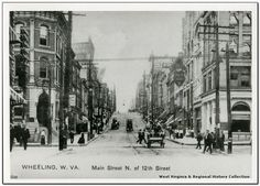 STREETSCAPE: Center of town, Main Street west of 12th, Wheeling, West Virginia, 1900