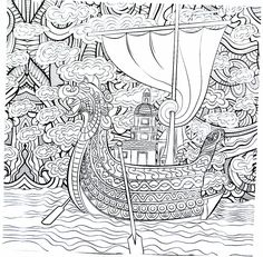 Viking Warrior Celtic Pattern Coloring Pages For Adults