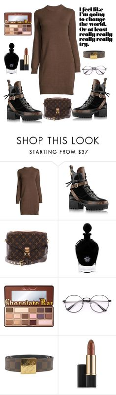 """""""Chocolate Louis Vuitton"""" by mississippimsu ❤ liked on Polyvore featuring Louis Vuitton, EB Florals and Estée Lauder"""