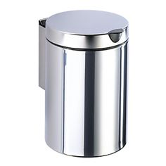 Geesa by Nameeks Standard Hotel Wall Mounted Waste Bin in Stainless Steel - - Waste Baskets - Bathroom Fixtures - Bed & Bath Bathroom Waste Bins, Bathroom Bin, Bathroom Fixtures, Bathroom Organization, Garbage Can, Trash Bins, Bath Accessories, Chrome Finish, Polished Chrome