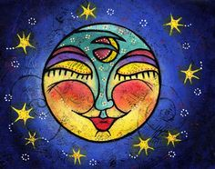 Colorful Moon Paintings | Colorful paintings for sale by Arizona artist Lindy Gaskill | Art ...