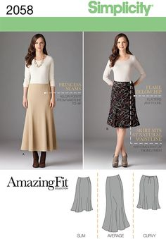 """misses' & plus size amazing fit skirt in two lengths with individual pieces given for slim, average and curvy fit… includes customized fitting instructions.<br/><br/><img src=""""skins/skin_1/images/icon-printer.gif"""" alt=""""printable pattern"""" /> <a href=""""#"""" onclick=""""toggle_visibility('foo');"""">printable pattern terms of sale</a><div id=""""foo"""" style=""""display:none;"""">digital patterns are tiled and labeled so you can print and assemble in the comfort of your home. plus, digital patterns incur no…"""