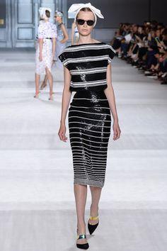 Giambattista Valli Fall 2014 Couture – Vogue stripes shimmer want
