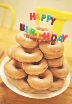 Creative Picture of Krispy Kreme Birthday Cake . Krispy Kreme Birthday Cake Krispy Kreme Cake Great Cake For My Birthday Lizs Board Birthday Cake For Husband, New Birthday Cake, Birthday Fun, Birthday Celebration, Birthday Parties, Birthday Breakfast For Husband, 16th Birthday, Krispy Kreme Birthday, Krispy Kreme Cake