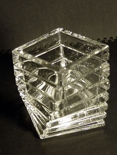 Tea light holder Marked Rosenthal Studio Line Germany Crystal Glass 3.25 in tall