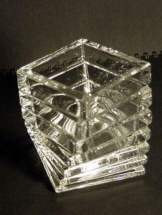 Tea light holder Marked Rosenthal Studio Line Germany Crystal Glass 3.25 in tall