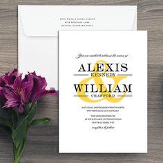 The Ampersand Wedding Invitation