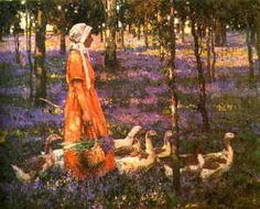"""""""The goose girl"""" by Stanley Royle."""