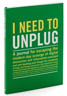 I Need to Unplug Journal, #ModCloth