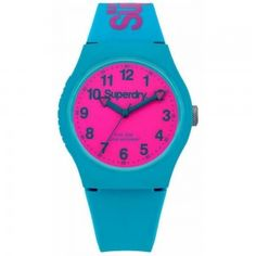 08d385e097e4d Ladies Superdry Urban Teal Silicone Watch SYG164AUP Montre Superdry,  Digital Watch, Rolex Watches,