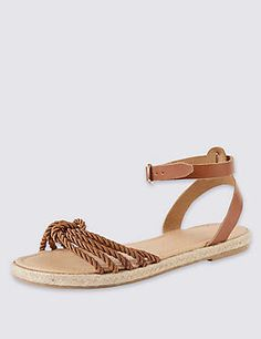 aa5e2f469a8 Leather Rope Sandals with Insolia Flex® Rope Sandals