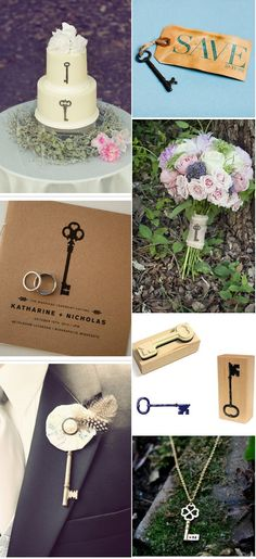 creative ways of incoporating keys into your wedding.