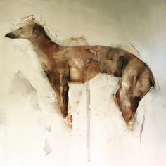 Greyhound  120x120cm  #nicolepletts #nicoleplettsfineart  #artistic_unity_ #abstractart #greyhound #oilpainting #portraitpainting #whippet #fineart  #painter #paintingoftheday #femaleartist #neutral #feministart #abstractart #abstractpainting  #minimalism #lessismore #commission #dog #paintingart
