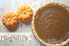 Pumpkin Pie Recipe | Knoxville Moms Blog fall recipes