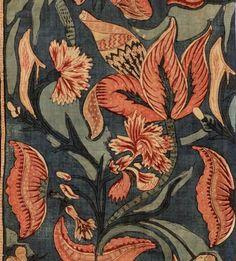 18th-century mordant-dyed, Coramandel Coast.