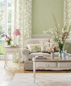 grüne einrichtung fürs wohnzimmer