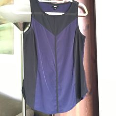 Navy and black sleeveless blouse Perfect condition - worn once. Great with fitted black pants. Mossimo Supply Co. Tops Blouses