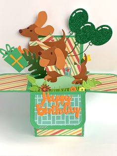 Excited to share this item from my #etsy shop: Dachshund/Sausage Dog Birthday card, 3D pop up box card, exploding box card, Children's card, handmade personalised card, 1st, 18th, 21st #papergoods #birthday #green #orange #doxiecard #21stbirthdaycard #1stbirthdaycard #explodingboxcard #birthdaycards 21st Birthday Cards, Dog Birthday, Happy Birthday, Exploding Box Card, Birthday Sentiments, Pop Up Box Cards, Anniversary Cards, Paper Goods, Dachshund
