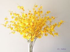 5 Real Touch Artificial dancy lady orchid Oncidium by bestbloomsla