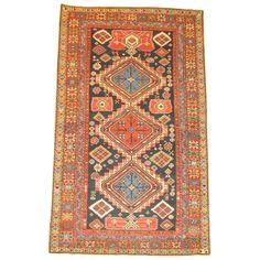 A beautiful antique shirvan rug. a 19th century classic !!