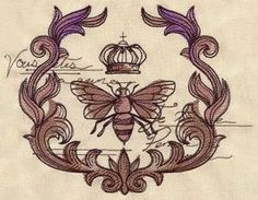 Parisian Bee_image  Urban Threads - Machine Embroidery designs that don't suck!