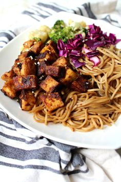 Peanut Butter Tofu Bowl with Soba Noodles