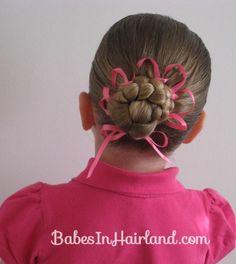 Bun with a Woven Ribbon Flower