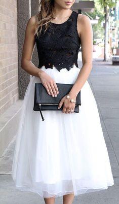 Ivory Tule Skirt