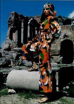 1969 Yves Saint Laurent jumpsuit. L'Officiel.