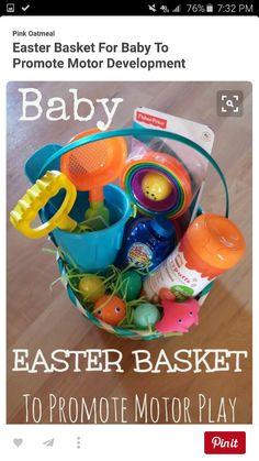 An enchanted imagination kids fishing gift basket my crafts best for ages 12 18 months is your little one too young for candy put together an easter basket that will help them develop their motor skills negle Image collections