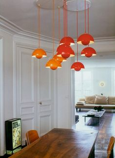 Verner Panton's Flower Pot Lights.