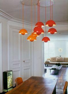 Verner Panton's Flower Pot Lights.