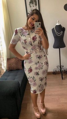 Shop sexy club dresses, jeans, shoes, bodysuits, skirts and more. Flowery Dresses, Modest Dresses, Cheap Dresses, Elegant Dresses, Casual Dresses, Classy Work Outfits, Classy Dress, Dress Outfits, Fashion Outfits
