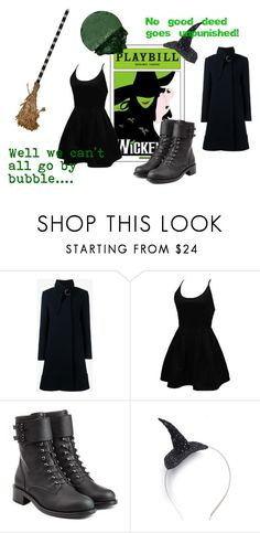 """""""Elphaba//Wicked Contest"""" by gryffindorgal ❤ liked on Polyvore featuring Chloé, WithChic, Philosophy di Lorenzo Serafini, Crown and Glory, Lancôme, contest and Dark"""