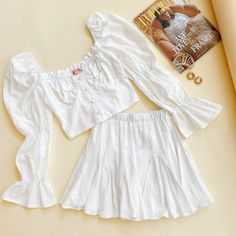 We're dreaming of a European summer in these VG Exclusives! Who else loves this outfit? Girls Fashion Clothes, Teen Fashion Outfits, Girly Outfits, Look Fashion, Pretty Outfits, Korean Fashion, Girl Fashion, Cute Summer Outfits, Cute Casual Outfits