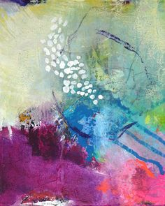 Original abstract painting small painting acrylic by ARTbyKirsten