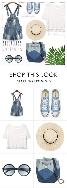 """""""Sleeveless jumpsuits"""" by din-fashion ❤ liked on Polyvore featuring MANGO, Tom Ford and sleevelessjumpsuits"""